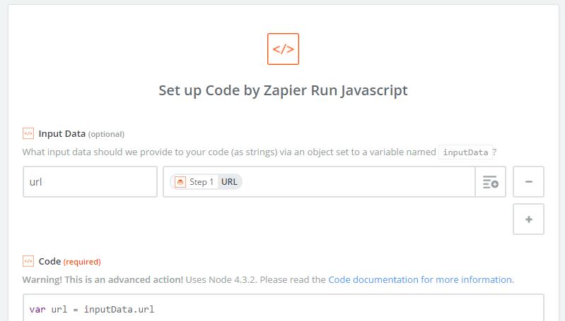 Code action screenshot